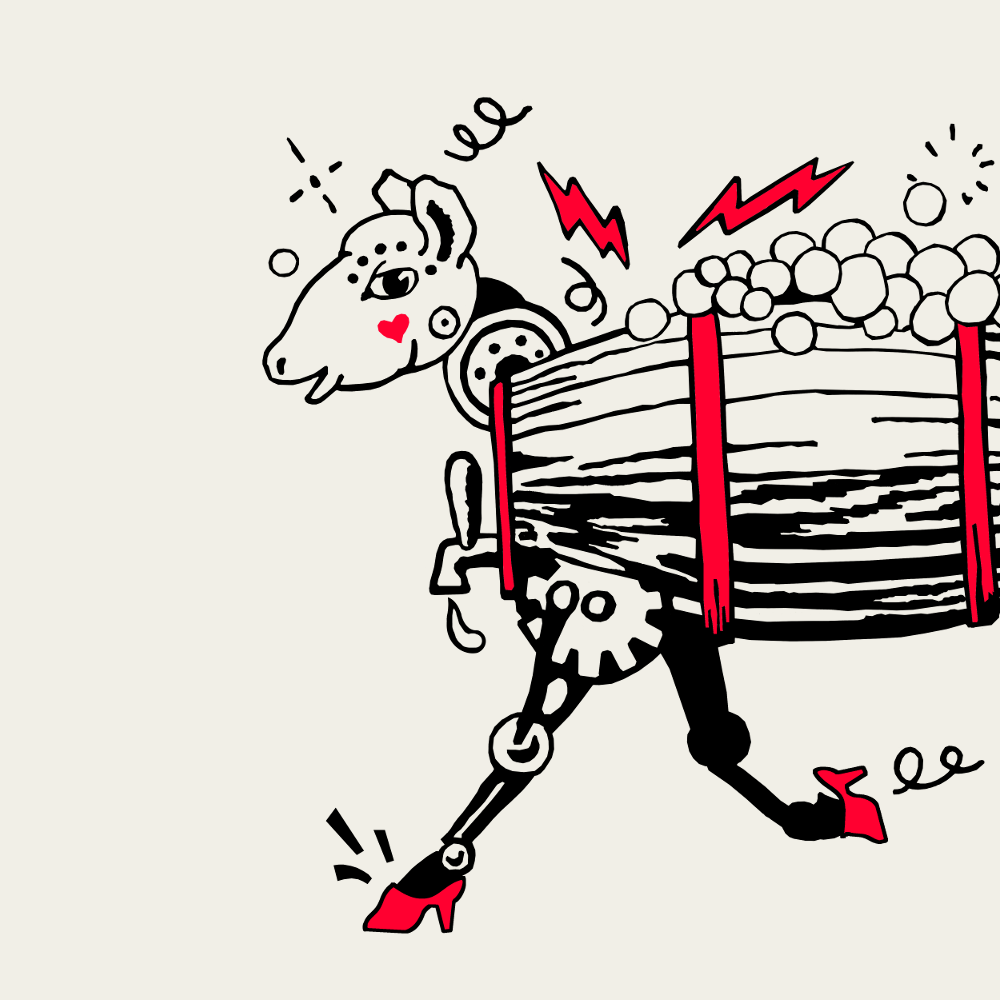 "A mechanical sheep charges full steam ahead for John Crowley's ""the Chemical Wedding by Christian Rosencreutz"""